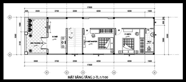 mat bang nha pho 2 tang 5x16