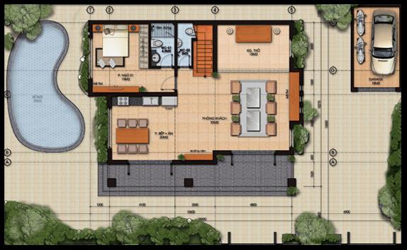 Gợi ý thi công thiết kế biệt thự 2 tầng hiện đại 130m2