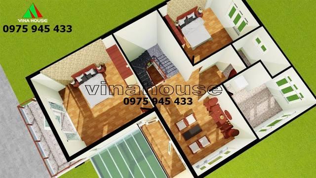 Mặt bằng nội thất tầng trệt nhà biệt thự 2 tầng phong cách châu âu