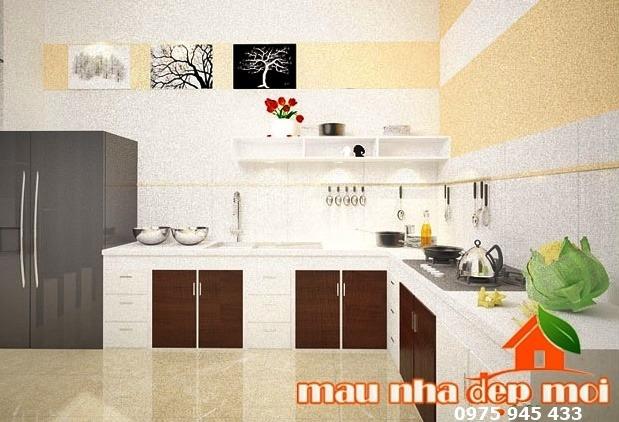 Nội thất phòng bếp nhà cấp 4 anh Hoàng