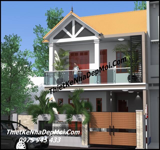 Nhà đẹp 2 mặt tiền mái thái