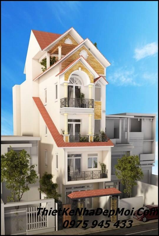 Kiến trúc nhà phố kiểu pháp đẹp