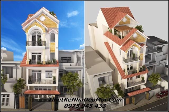 Nhà đẹp 1 trệt 3 lầu 1 sân thượng 5m