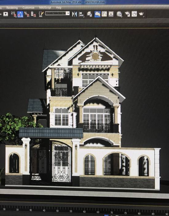 Bản vẽ autocad kiến trúc biệt thự
